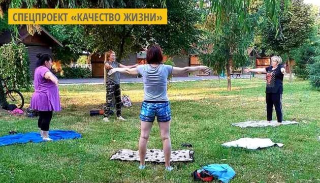 В Мукачево проводят открытые групповые занятия для подготовки к третьей волне COVID-19