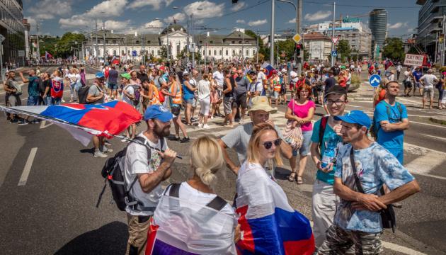 У Братиславі блокують дороги - протестують через «пільги» для вакцинованих