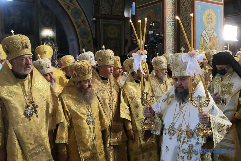 Gottesliturgien anlässlich des 1033. Jahrestages der Taufe der Rus-Ukraine in dem St. Michaelskloster / Foto: Wolodymyr Tarasow
