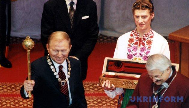 На фото: Президент України Леонід Кучма під час інавгурації. Київ, 30 листопада. 1999 рік. Національний палац