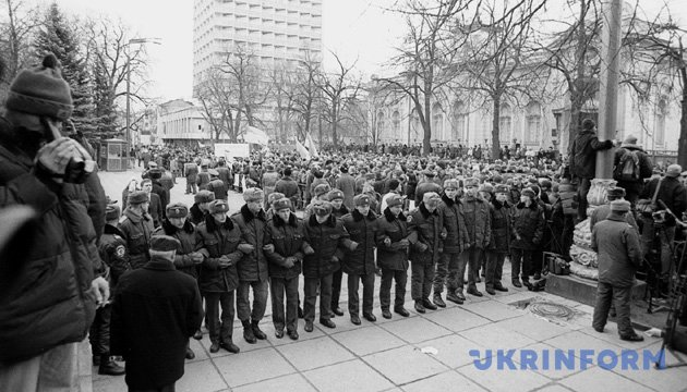 На фото: під час протестних акцій на Майдані Незалежності і біля Верховної Ради з приводу повільного розслідування справи зникнення журналіста Георгія Гонгадзе. З фондів Укрінформу
