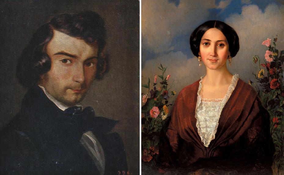 Автопортрет та Портрет дружини