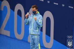 水泳男子1500m自由形 ロマンチュークが銀メダル獲得=東京五輪