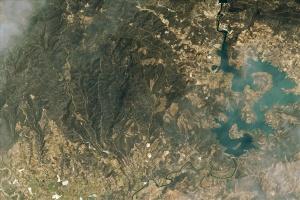 Згорілі ліси у Туреччині видно з космосу