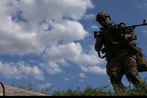 На адмінкордоні з окупованим Кримом тренувалися десантники та резервісти