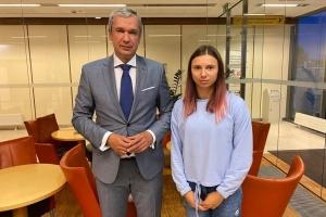 Білоруська спортсменка Тимановська прилетіла до Варшави