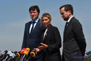 Зеленська відвідала острів Хортиця і перевірила реконструкцію музею