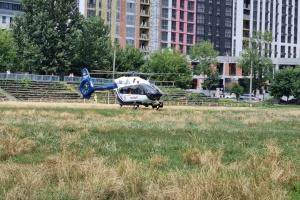 До Охматдиту гелікоптером доправили 6-місячну дитину із сепсисом