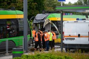 В Познани столкнулись трамваи, десятки пострадавших