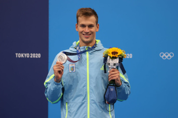 JO 2021 : Le nageur ukrainien Mykhailo Romanchuk offre sa première médaille d'argent à l'Ukraine.
