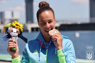 JO 2021 : l'Ukrainienne Liudmyla Luzan remporte le bronze en canoë 200 m