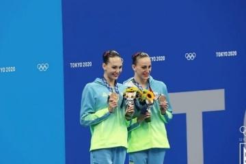 Fedina y Savchuk se llevan el histórico bronce en natación sincronizada de los JJOO