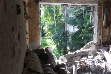 La parte ucraniana del CCCC muestra las consecuencias del bombardeo contra Krasnogorivka