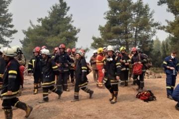 Griechenland: Ukrainische Feuerwehrleute löschten am Mittwoch zwei Brände
