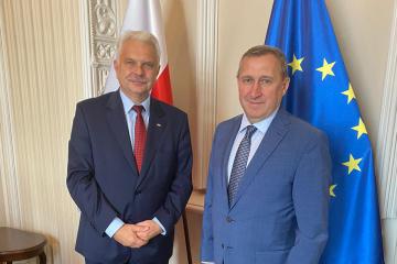 Deshchytsia, Kraska discuss possibility of entry of vaccinated Ukrainians into Poland