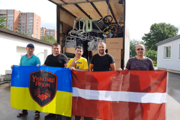 Latvia sends humanitarian cargo to Ukraine for people with special needs