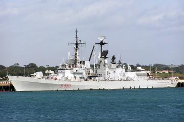 Italian missile destroyer enters Black Sea