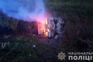 Saporischschja: Zwei Erwachsene und zwei Kinder sterben bei Zusammenstoß von zwei Autos