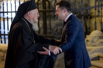 Präsident Selenskyj trifft Ökumenischen Patriarchen Bartholomaios I.