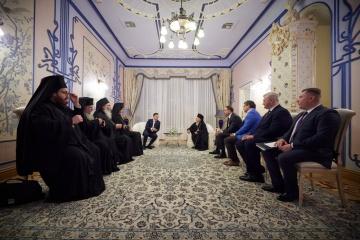 Volodymyr Zelensky s'est entretenu le patriarche œcuménique Bartholomée