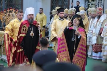 Bartholomaios und Epiphanius halten gemeinsam Gottesdienst in Sophienkathedrale ab