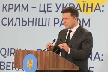 Zełenski - Deklaracja potępiająca okupację Krymu będzie miała miejsce do podpisu przez Rosję