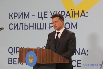 Zelensky: Plataforma de Crimea debería obligar a Rusia a negociar sobre el retorno de Crimea