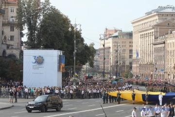 Militärparade zum 30. Jahrestag der Unabhängigkeit