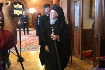 El patriarca Bartolomé bendice a los ucranianos