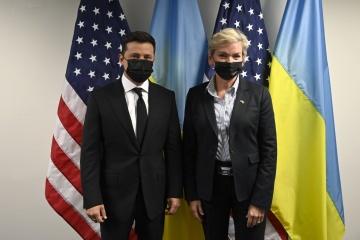 Rosyjski gaz jest najbrudniejszy na świecie - Zełenski na spotkaniu z sekretarz ds. energii USA
