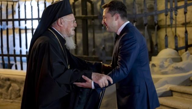 ゼレンシキー大統領、コンスタンティノープル総主教と会談