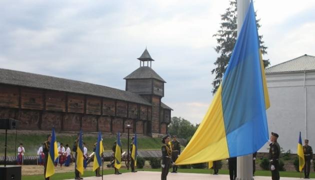 Державний Прапор у Батурині підіймали під салют козацьких гармат