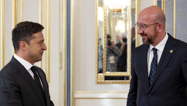 ゼレンシキー大統領、EU大統領とクリミア・プラットフォームでの今後の連携を協議