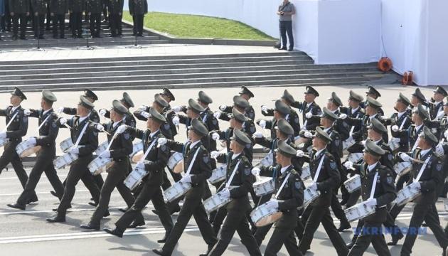 Unabhängigkeitstag: Militärparade in der Hreschtschatyk-Straße