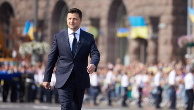 「ウクライナが独立を回復してから30年経った」=ゼレンシキー大統領