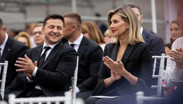 Pareja presidencial asiste al concierto de Bocelli en Kyiv