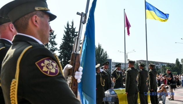 У Запоріжжі попрощалися з військовим, який загинув на сході України