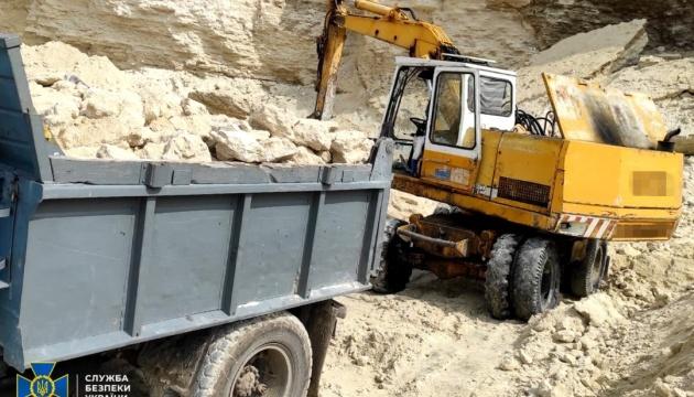 СБУ заблокувала незаконний видобуток надр з Національного парку «Кременецькі гори»
