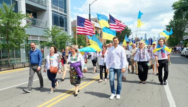 У Чикаго вперше відбувся урочистий Парад української громади