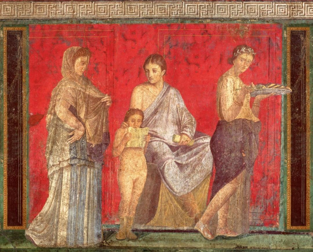 Давньоримська фреска з Помпеї