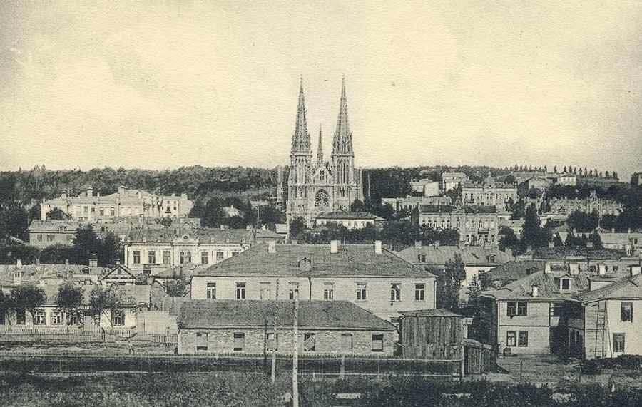Так виглядав Миколаївський костел на початку 20 століття