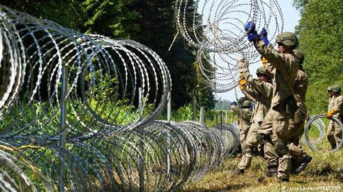 Відновлення колючого дроту на кордоні Литви з Білоруссю