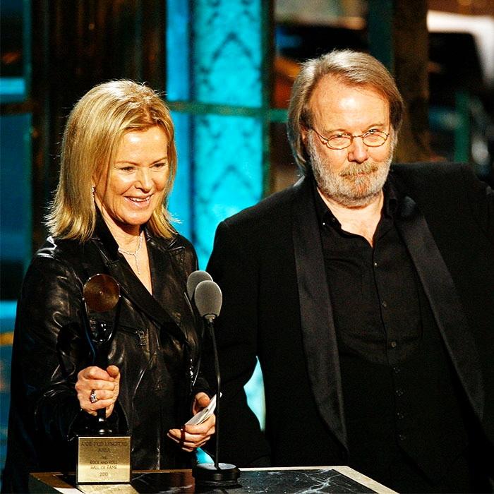 Бенні та Фріда на церемонії в Нью -Йорку - ABBA вводять до Зали слави рок-н-ролу_ 15 березня 2010 р.