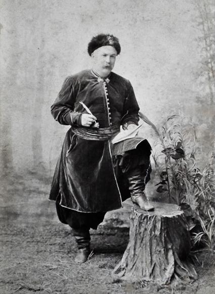 Іван Тобілевич  у ролі полковника Барабаша у виставі Богдан Хмельницький, 1899 р.