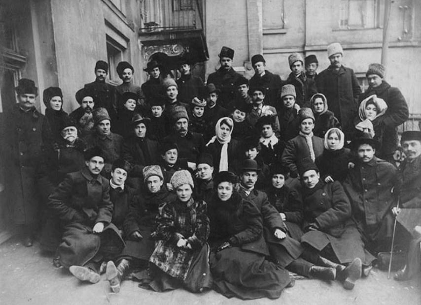 театральна трупа Миколи Садовського та Марії Заньковецької, Київ, 1910 р.