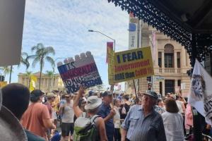 В Австралії мітингували проти локдауну, масок та щеплення проти COVID-19