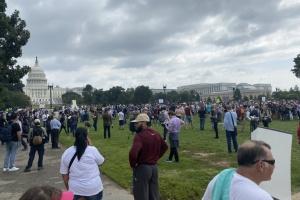 У Вашингтоні на мітинг з підтримки заарештованих за штурм Капітолія зібралося менше, ніж копів