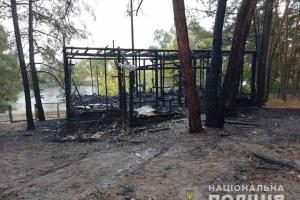 У Харківській області згорів будинок на базі відпочинку – двоє людей у лікарні