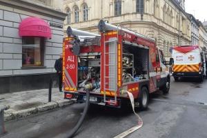 У центрі Львова стався витік газу, горить труба