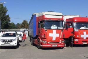 Швейцария доставила в Донецкую и Луганскую области 138 грузовиков гумпомощи